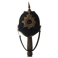 Edwardian Durham Light Infantry Officers Blue Cloth Helmet