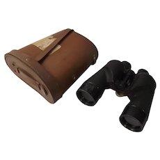 Cased REL / Canada WWII 1945 Navy 7x50 Military Binoculars #1