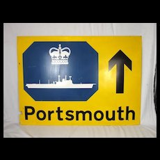 Large 1977 Silver Jubilee AA Portsmouth Road Sign