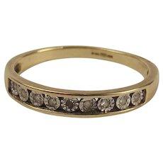 9ct Yellow Gold Diamond Ring UK Size L+ US 6