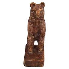 c1890 German Black Forest Oak Bear Figurine