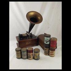 Edison Wax Cylinder Phonograph c1900