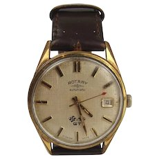 Gents Gold Plated Rotary GT Automatic Wrist Watch c1970's