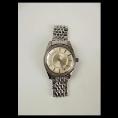 Gents Chrome Plated Ross Grand Prix Wrist Watch