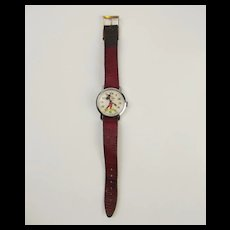 Disney Mickey Mouse Manual Wrist Watch Circa 1960's/70's