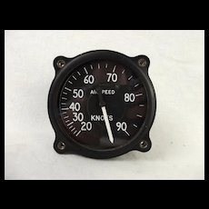Bell 47 Y Helicopter Air Speed Gauge Army AC