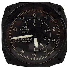 1957 Kelvin Hughes KB 317/02 Built Differential Cabin Pressure Gauge
