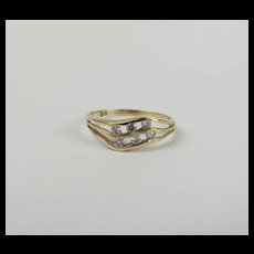 9ct Yellow Gold Glass Ring UK Size N+ US 6 ¾