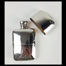 Silver Two Piece Hip Flask London 1899
