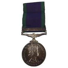 General Service Medal With Northern Ireland Clasp Awarded To P.H.J. Giles AB RN