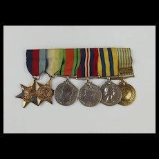 WW2 Medal Set With Korea & UN Korea Medal Awarded To C/KX. 96187. A.Harris. S.M. R.N.