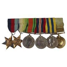 WW2 Medal Set With Korea & UN Korea Awarded To C/KX. 96187. A.Harris. S.M. R.N.