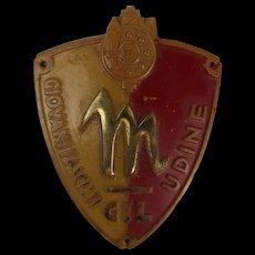 Very Rare Italian Fascist Youth Badge (GIL) Udine Sleeve Shield