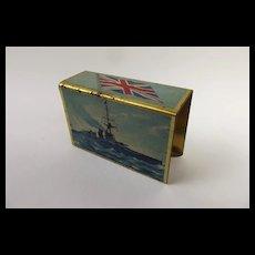 First World War Battleship Print Matchbox Case
