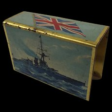 First World War Battleship Print Matchbox Case