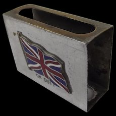 First World War Union Jack 'On Duty' Matchbox Case
