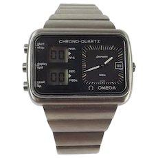 Gents Omega Chrono-Quartz Seamaster Montreal Olympics Scoreboard Watch c1976