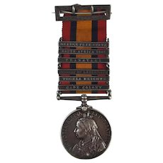 Boer War Queens South Africa Medal With 6 Clasps Awarded To Pte J.W. Montgomery
