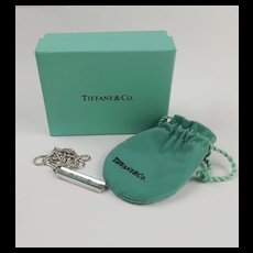 Tiffany & Co. Silver Ingot Bar Pendant Necklace - 18 inches