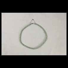 Jade Bead & Silver Necklace