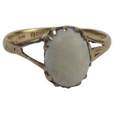 9ct Yellow Gold Opal Ring UK Size J US 4 ¾
