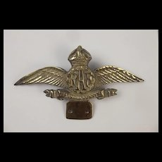 Bronze WW2 RAF Squadron Staff Car Mascot