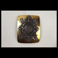 Rare Officers Shoulder Belt Plate 32nd Cornwall Regiment