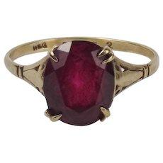 9ct Rose Gold Ruby Ring UK Size P US 7 ½