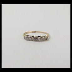 18ct Yellow Gold Five Stone Diamond Ring UK Size N US 6 ½
