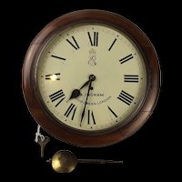 Edward VII Public Buildings Wall Clock 8 Day Chain Fusee