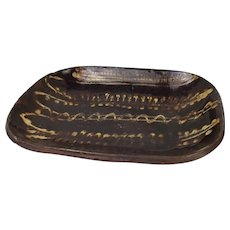 Welsh Late 18thC Slip Decorated Earthenware Baking Loaf Dish