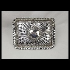 English Sterling Silver Decorative Tray London 1909