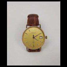 Gents 9Ct Gold Quartz Tisot Wrist Watch c1984