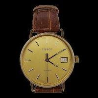 Gents 9Ct Gold Quartz Tissot Wrist Watch c1984