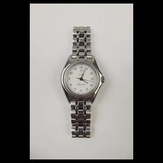 Ladies Stainless Steel Tudor Geneve Monarch Quartz Wrist Watch c1990's