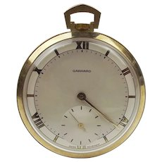 9ct Yellow Gold Garrard Open Face Manual Pocket Watch c1984