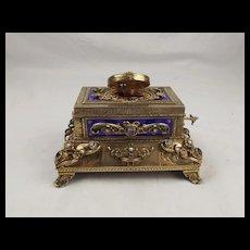 Silver Gilt & Enamel, Amethyst & Pearl Singing Bird Box Model 11 By Karl Griesbaum