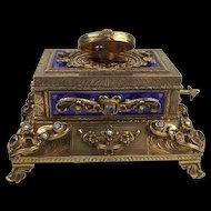 Silver Gilt & Enamel, Amethyst & Pearl Singing Bird Box Model 11 Karl Griesbaum