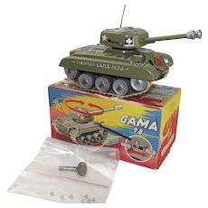 GAMA Clockwork Tin Plate Medium Tank M98 #3