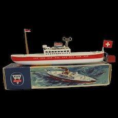 Boxed German Arnold Clockwork Tinplate Liner