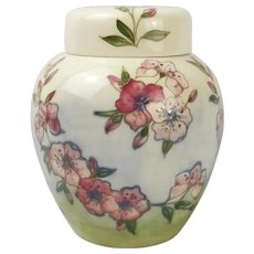 Moorcroft Spring Blossom Ginger Jar With Lid c1990