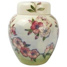Moorcroft Spring Blossom Ginger Jar With Lid c1990