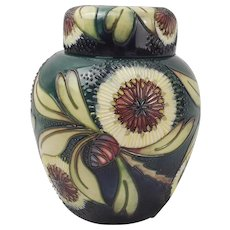 Moorcroft Albany Pattern Ginger Jar With Lid - c2001