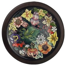 Framed Moorcroft Carousel Charger c1996 – Numbered Edition 418