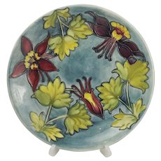 Moorcroft Columbine Pattern Plate - 10 Inches