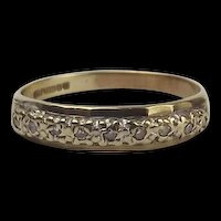 9ct Yellow Gold Diamond Half Eternity Band Ring UK Size M US 6