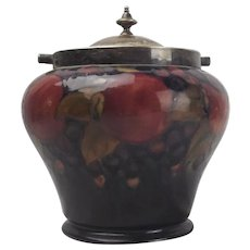 Early 20th Cenury Moorcroft Pomegranate Biscuit Barrel