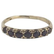 9Ct Yellow Gold Sapphire Ring UK Size Q US 8