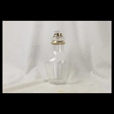 c1870 French Silver Collared Glass Smelling Salts Bottle