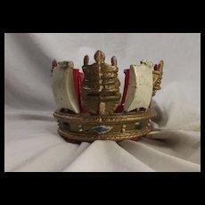 Royal Navy Jackstaff Crown